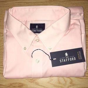 New Men Stanford Dress Shirt Size 18 Reg Fit 36-37